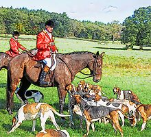 Horse and hounds 4 by MrMild