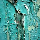 Green Turquoise Peeling Paint by Michele Filoscia