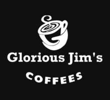 glorious jim's coffees t-shirt Kids Tee