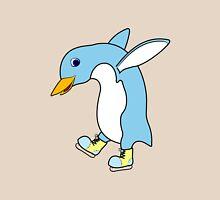 Christmas Light Blue Penguin with Yellow Ice Skates T-Shirt