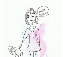 Girl and Toy Bunny  by Tara Bateman