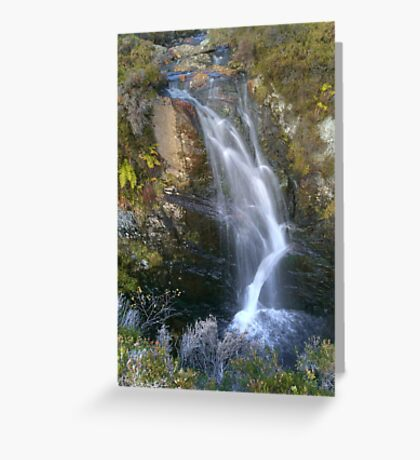 Scottish waterfall Greeting Card