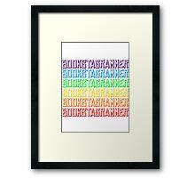 Rainbow Bookstagram Framed Print