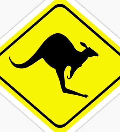 Kangaroo Crossing Sign Sticker