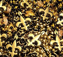 Black and Gold Fleur de Lis Bead Mix by StudioBlack