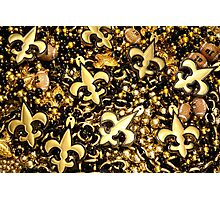 Black and Gold Fleur de Lis Bead Mix Photographic Print
