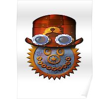 steampunk smileyface Poster