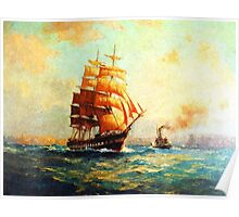 Colorful Seascape g Poster