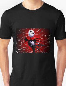 Jack Skellington in red Unisex T-Shirt