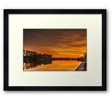 Carew Castle At Sunset Framed Print
