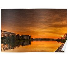 Carew Castle At Sunset Poster