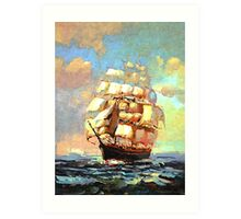 Colorful Seascape h Art Print