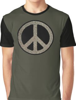 Peace,Love,Music Rusty Sign Graphic T-Shirt