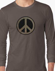 Peace,Love,Music Rusty Sign Long Sleeve T-Shirt