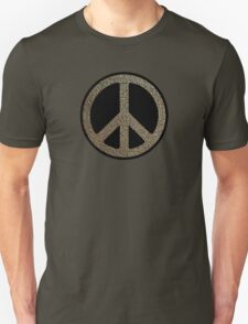 Peace,Love,Music Rusty Sign T-Shirt