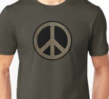 Peace,Love,Music Rusty Sign Unisex T-Shirt
