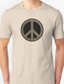 Peace,Love,Music Rusty Sign T-Shirt