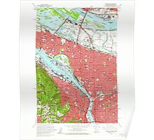 USGS Topo Map Oregon OR Portland 281132 1961 24000 Poster