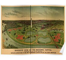 Panoramic Maps Birdseye view of the National Capital World's Exposition of 1892 Poster