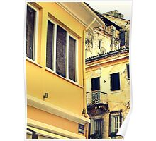 Corfu Old Town Poster