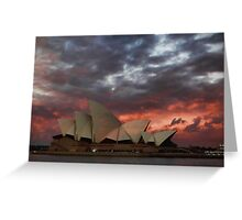 Opera House Sunset Greeting Card
