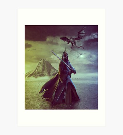 The Witch King of Angmar Art Print
