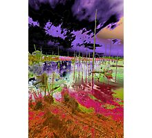 Foreboding purple Sky with blood lake Photographic Print