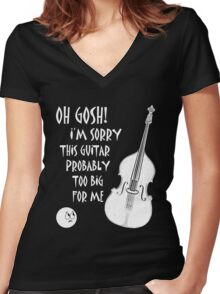 Cool Cartoon Oh gosh! Women's Fitted V-Neck T-Shirt