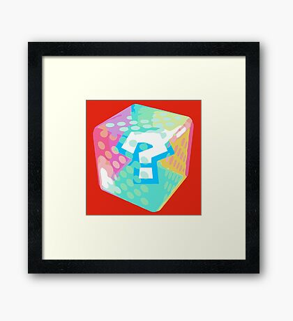 Mario Kart Item Block Framed Print