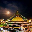 Starburst at Bouddha Stupa by Om Yadav