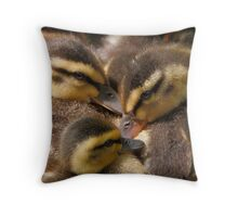Huddled Ducklings Throw Pillow