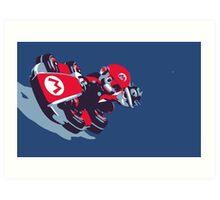 Mario Karting Art Print
