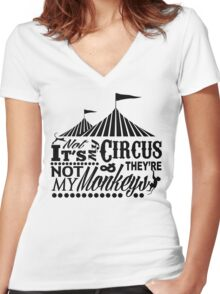 It's A Circus Women's Fitted V-Neck T-Shirt