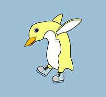 Christmas Light Yellow Penguin with Blue Ice Skates T-Shirt