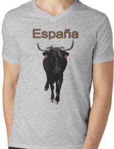 Espana, Spain, bull Mens V-Neck T-Shirt