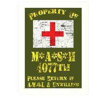 Property Of Mash 4077th Art Print