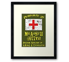 Property Of Mash 4077th Framed Print