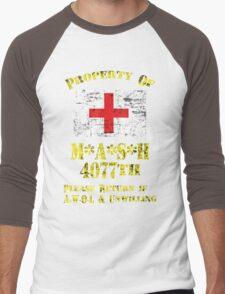 Property Of Mash 4077th Men's Baseball ¾ T-Shirt