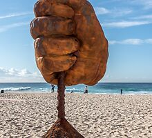 Dust on Tamarama Beach by Chris Allen