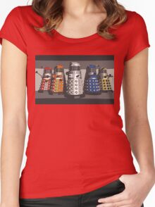 5 Shades of Dalek Women's Fitted Scoop T-Shirt