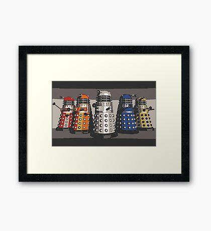 5 Shades of Dalek Framed Print