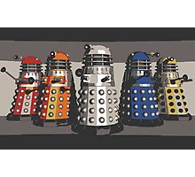 5 Shades of Dalek Photographic Print
