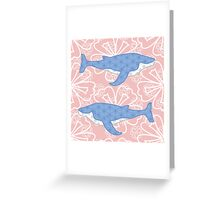 flower whale Greeting Card