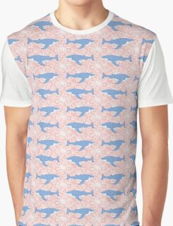 flower whale Graphic T-Shirt