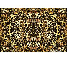 Black and Gold Fleur de Lis Bead Mix 2 Photographic Print