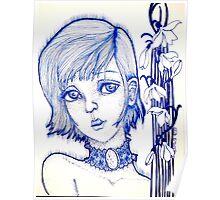Ida Blue Poster