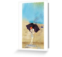 Rainy Day Flower Greeting Card