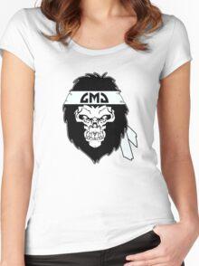 Gorilla Skull Women's Fitted Scoop T-Shirt