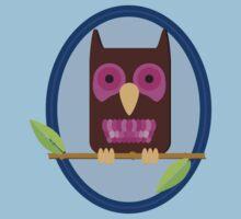 Owl on a limb Kids Clothes