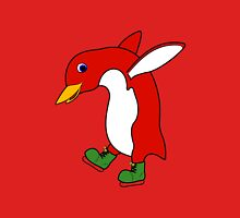 Christmas Red Penguin with Green Ice Skates T-Shirt